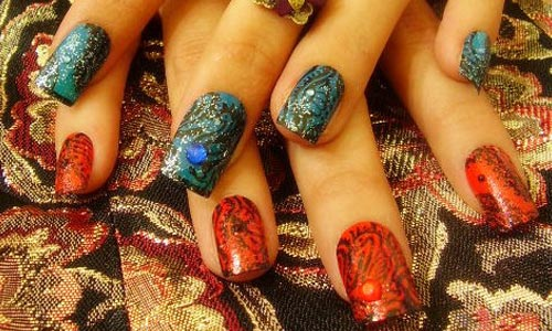 Very detailed nail Art