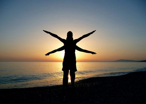 Meditative sight photo