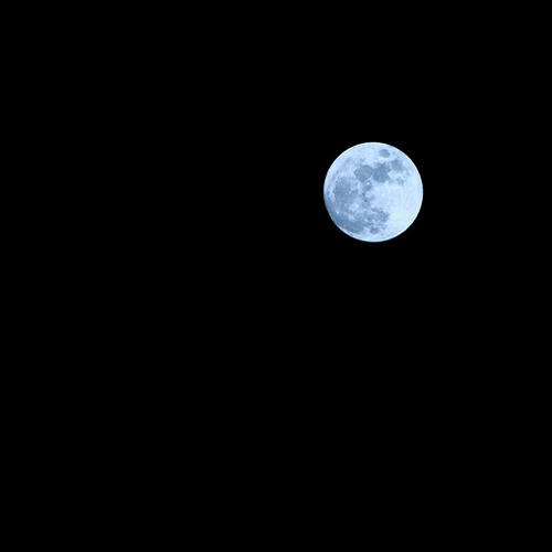 Lonely Yet Shining Bright Moon Photography