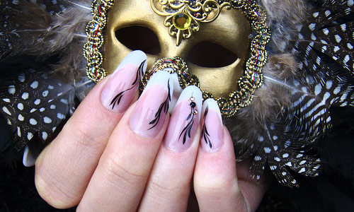 Creatively designed nail art