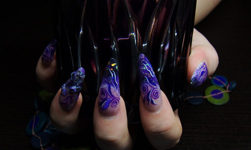 Captivating nail art