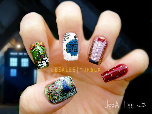 various nail art