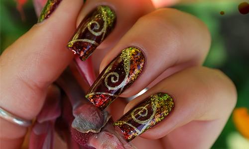 Expressive design nail Art