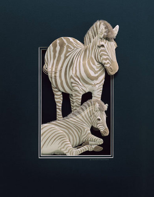 Cool in stripe Paper Sculpture.