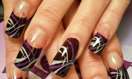 Nail Polish Line Designs Hession Hairdressing