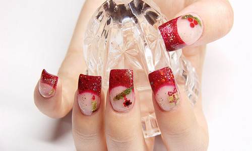 From the heart nail Art design