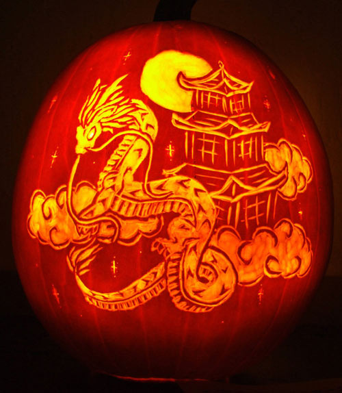 Well Lighted Pumpkin Carvings