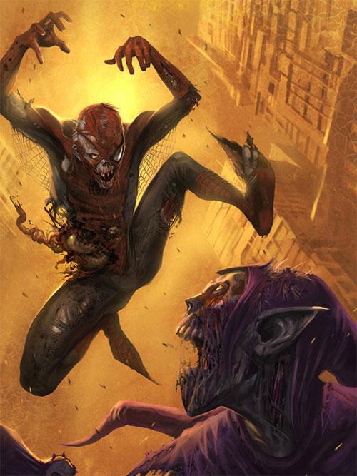 spider man zombie
