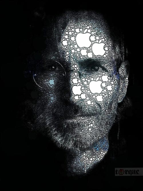 Relaxing Steve Jobs Illustration