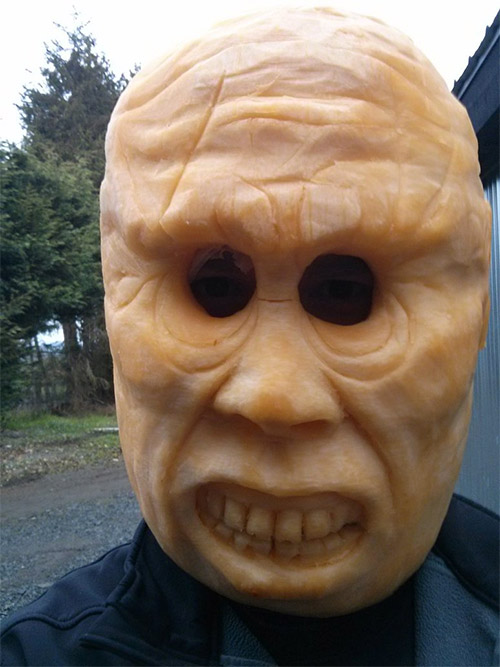 pumpkin Halloween costume mask