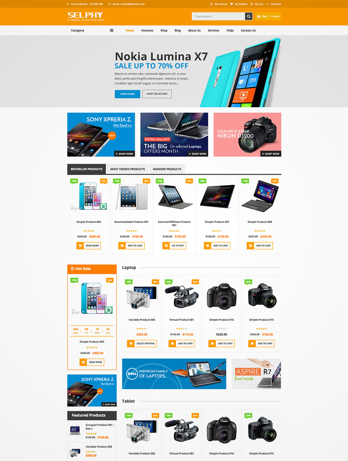 woocommerce themes wordpress