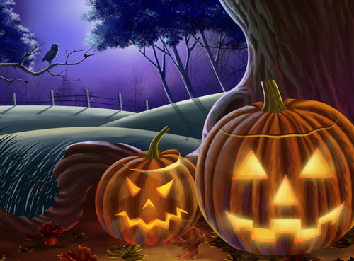 Horror-Stricken Halloween Wallpaper