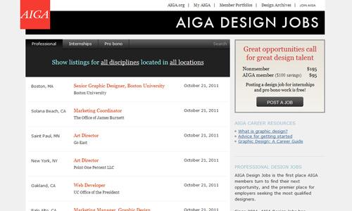 AIGA Design Jobs