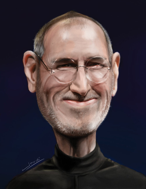 Happy Steve Jobs Illustration