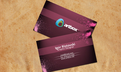 Formal Looking Purple Business Card