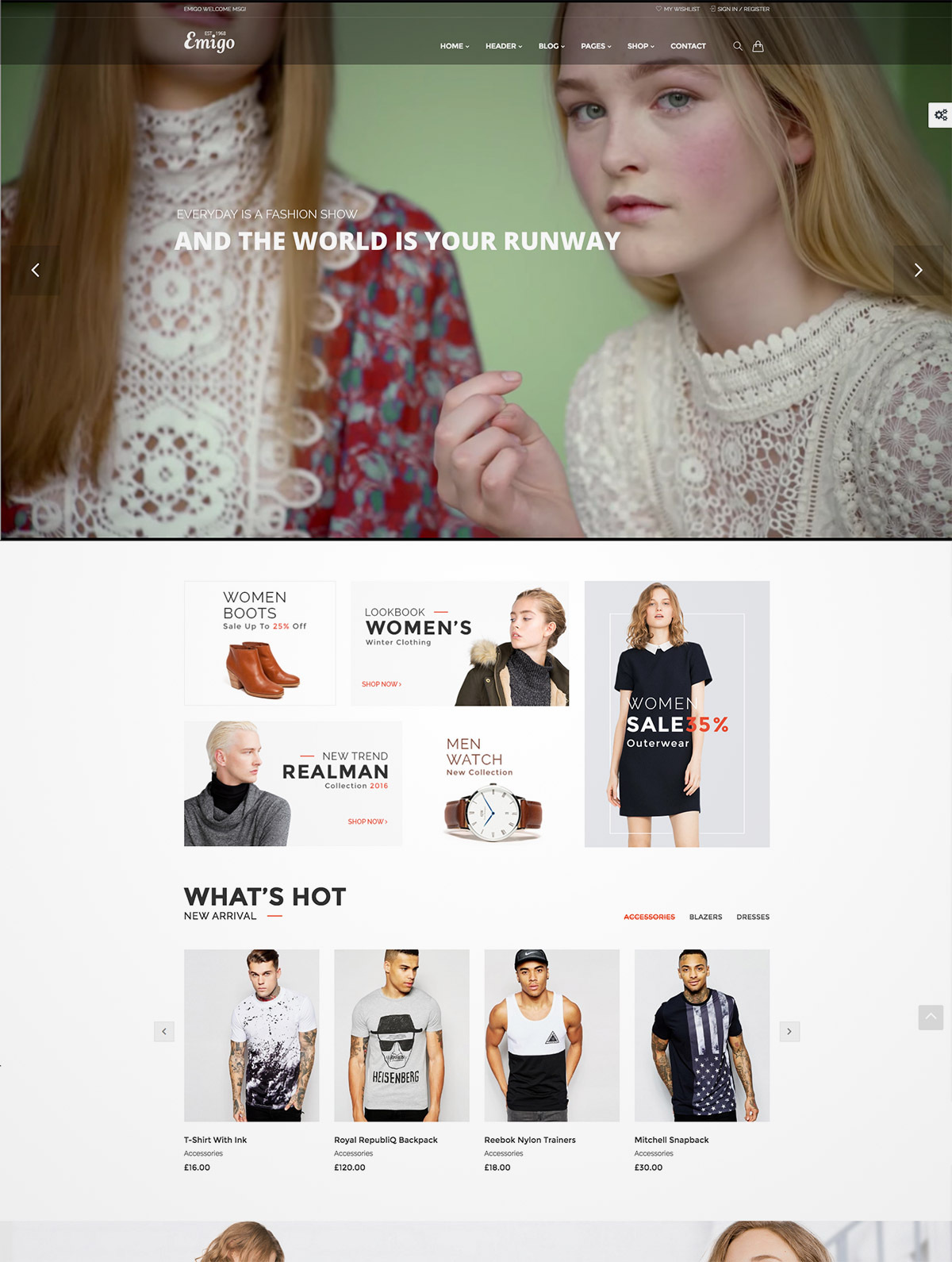 fashion woocommerce wordpress