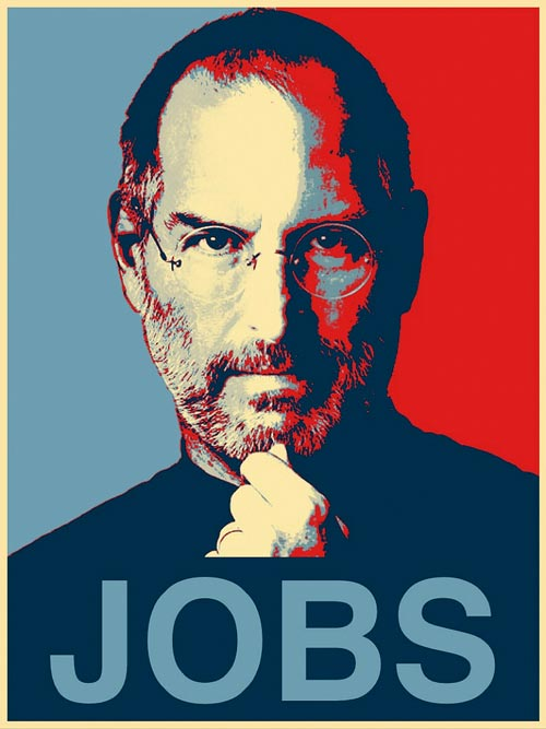 Naturally Amazing Steve Jobs Illustration