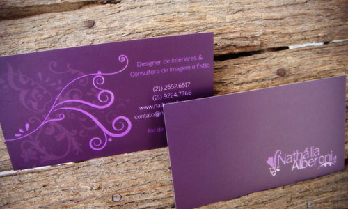 With Authority Purple Business Card