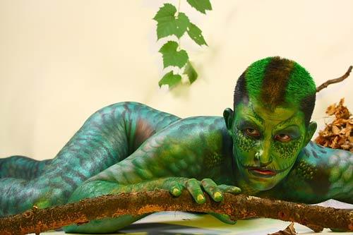 Nature-Friendly Body Paint Art