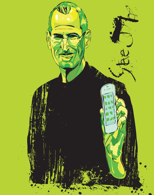 Neatly Done Steve Jobs Illustration