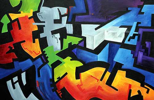 Masculine Abstract Art Painting
