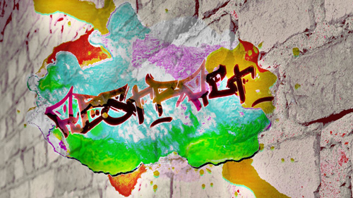 colored abstract graffiti wallpaper