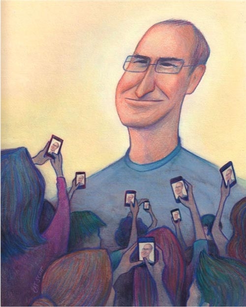 Welcoming Steve Jobs Illustration