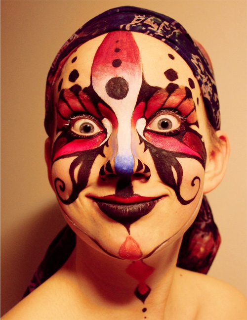Amusing Face Painting Design