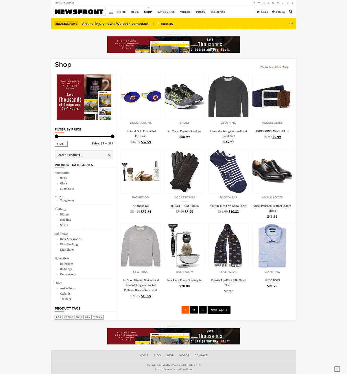 ecommerce blog theme