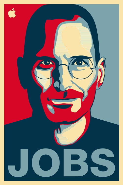 Posterized Steve Jobs Illustration