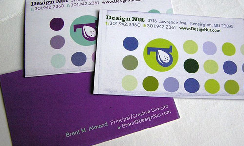 Cool and Simple Purple Business Card