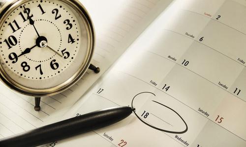 Fix your schedule