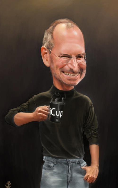 Nicely Done Steve Jobs Illustration