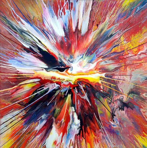 Spinning Abstract Art Painting