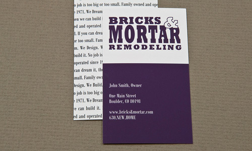 Homey Purple Business Card