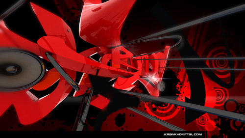 Red Razer graffiti wallpaper