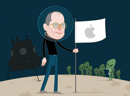 Overwhelming Steve Jobs Illustration