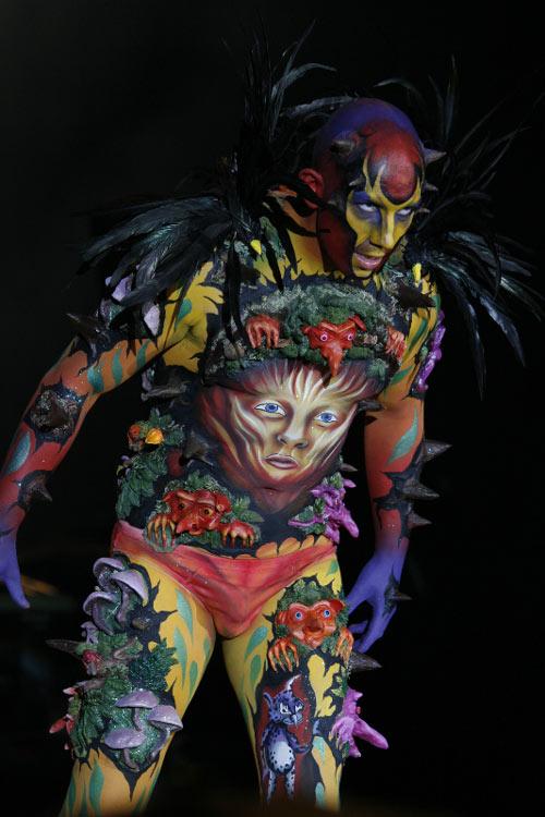 Conceptualized Body Paint Art