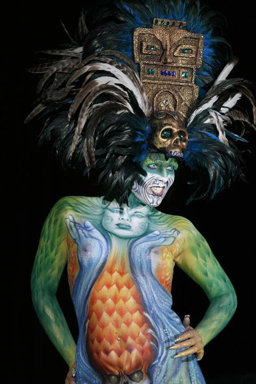 Scary Body Paint Art