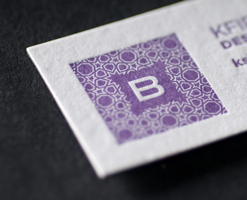 Expensive Yet Elegant Purple Business Card