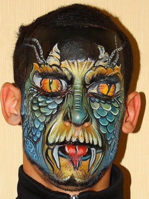 Charming Face Painting Design