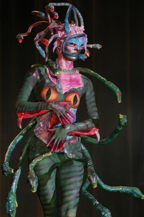 Hissing Body Paint Art