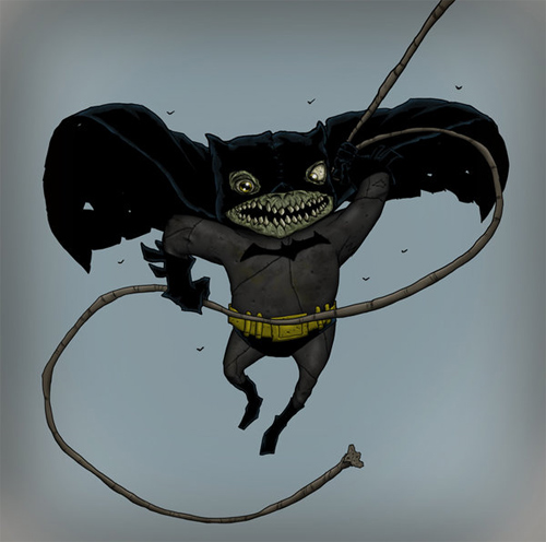 batman zombie swinging