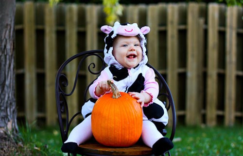 Cuddly Baby Halloween Photography