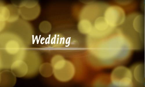wedding bokeh mosaic