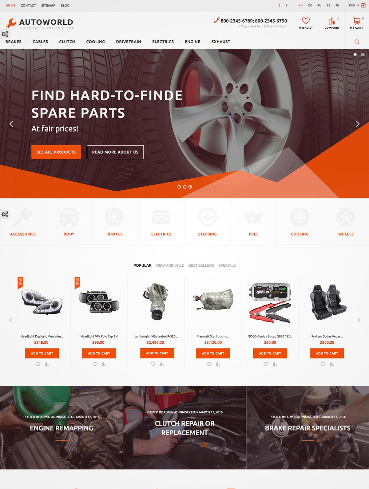 auto parts eshop theme