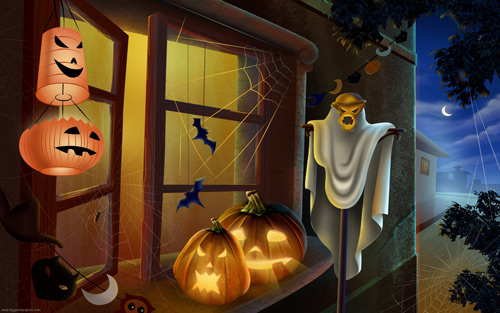 Full of Emotion Halloween Wallpaper