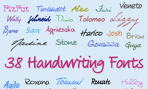 Handwriting fonts are unique
