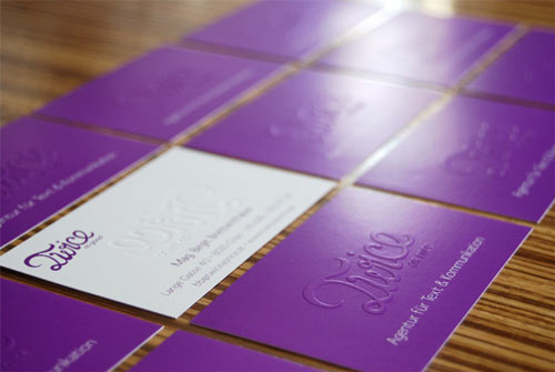 Very Eye-Catching Purple Business Card