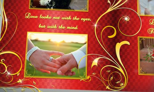 wedding album gold flourish